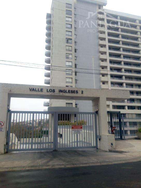 Departamento en arriendo (sin muebles) Condominio Valle Los Ingleses II, Valparaiso.